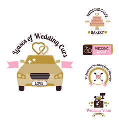Wedding photo or event agency logo badge vector