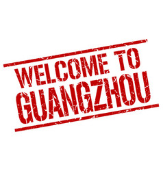 Welcome to guangzhou stamp vector