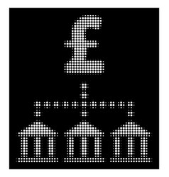 White halftone pound bank scheme icon vector