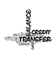 wipe out debt with balance transfer credit cards vector image