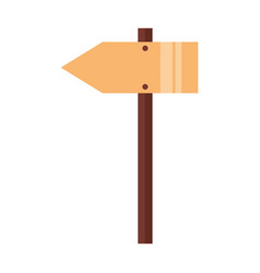 wooden arrow signal vector image