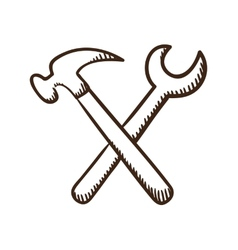 Wrench and screwdriver tools symbol vector