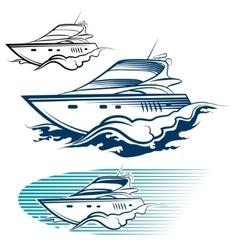 Yacht Emblem set vector image