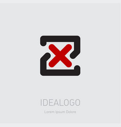 zx - design element or icon initial monogram vector image