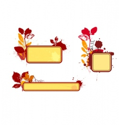 autumn vignettes vector image