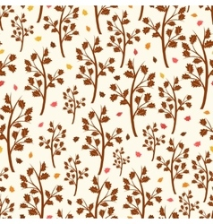Oak tree and falling leaves pattern vector image