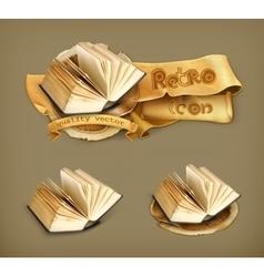 Open book icon vector image vector image