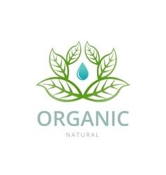 Organic emblem template vector image vector image