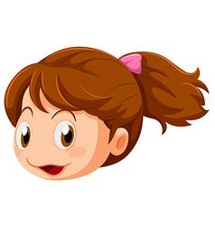 A head of a little girl vector image vector image