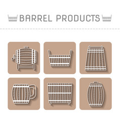 barrel products flat objects vector image vector image