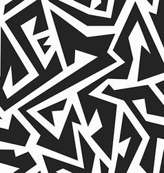 monochrome tribal seamless pattern vector image