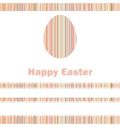 Postcard with Easter egg on colorful EPS 8 vector image