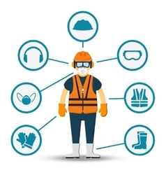 Worker health and safety vector image vector image