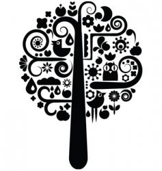 environmental icons tree vector image vector image