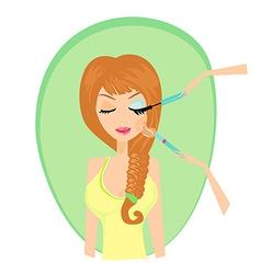 Make-up girl card vector image