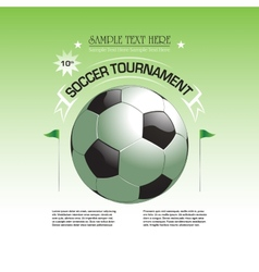 Soccer tournament invitation poster vector image vector image