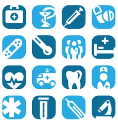 color medical icon set vector image