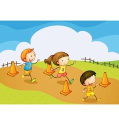 kids running vector image vector image