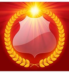 Luminous laurel wreath vector image vector image