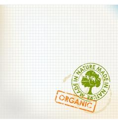 organic stamp vector image