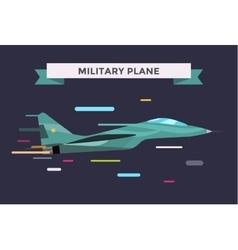 War military plane vector image vector image