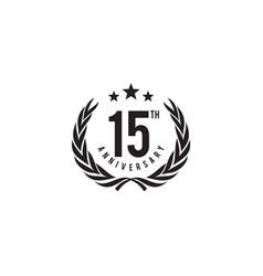 15th year celebrating anniversary emblem logo vector