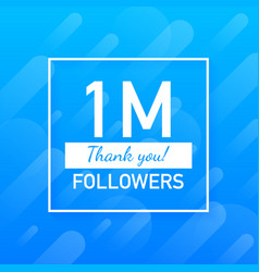 1m followers thank you social sites post thank vector