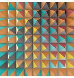 Abstract 3d geometric pattern Polygonal vector