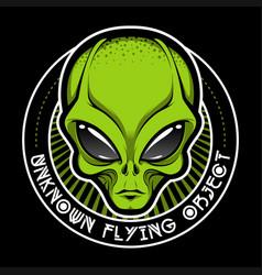 alien face tee stump humanoid martian head print vector image