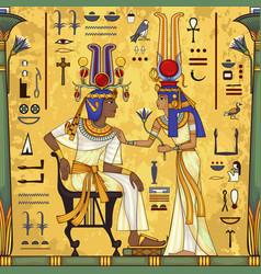 Ancient egypt muralegyptian mythology vector