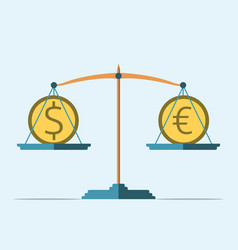 balance dollar and euro vector image