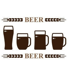 beer mug set vector image