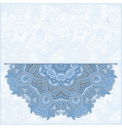 Blue colour floral round pattern vector