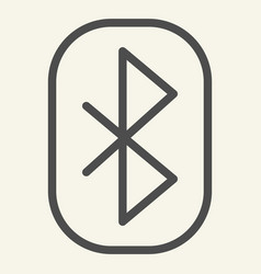 Bluetooth line icon connection vector