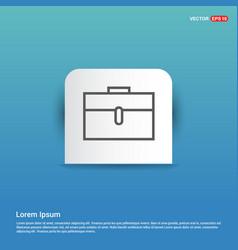 briefcase icon - blue sticker button vector image