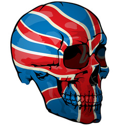 british flag painted on a skull vector image