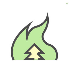 burn cause dust and pm 25 problem icon vector image