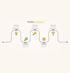 business timeline infographics working process vector image