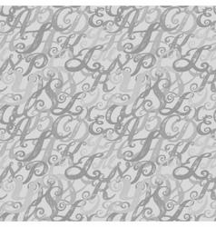 Calligraphy alphabet typeset lettering vector