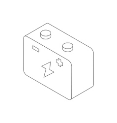 Car battery icon isometric 3d style vector