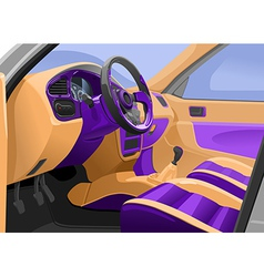 Car interior vector