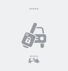 Car key - minimal icon vector