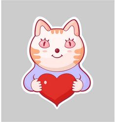 cartoon style love sticker vector image
