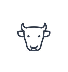 cattle icon cow head cattle farm linear sign vector image