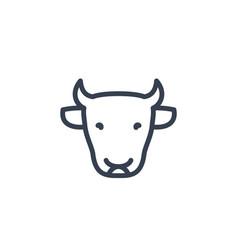 Cattle icon cow head farm linear sign vector