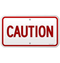 Caution Rectangular Notice vector image