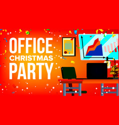 Christmas party in office celebrating new vector