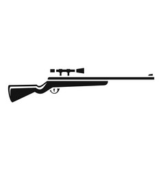 classic sniper rifle icon simple style vector image