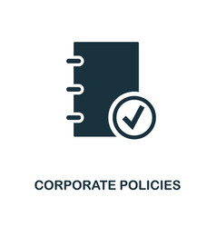 Corporate policies icon monochrome style design vector