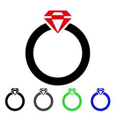Diamond ring flat icon vector